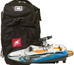 Nautique backpack & RC boat