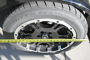 Measure your tire across to get your base length